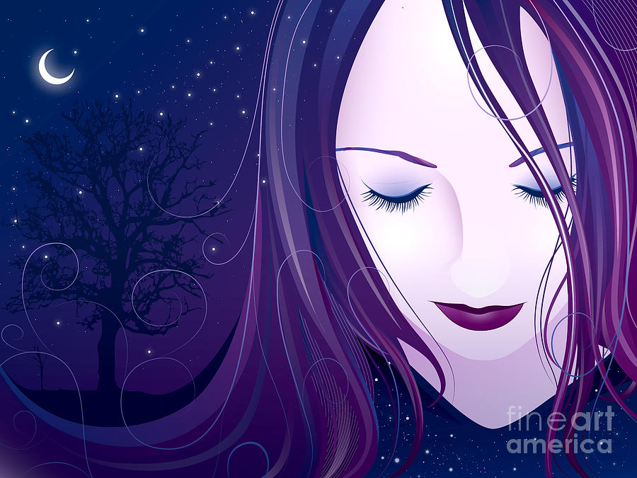 Young Digital Art - Nocturn by Sandra Hoefer