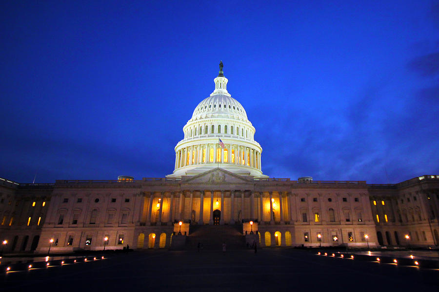 Capitol Photograph - Nocturnal Art by Mitch Cat