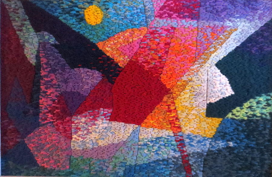 Needle Point Tapestry - Textile - Nocturne 11 by Diane Fine