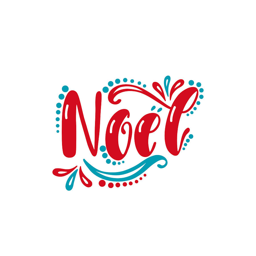 Noel Handwriting Inscription For Greeting Card Invitation Postcard Print Poster Typography Holiday Message By Maroshka