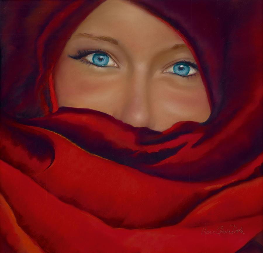 Pastel Portrait Pastel - Noemie by Marie-Claire Dole