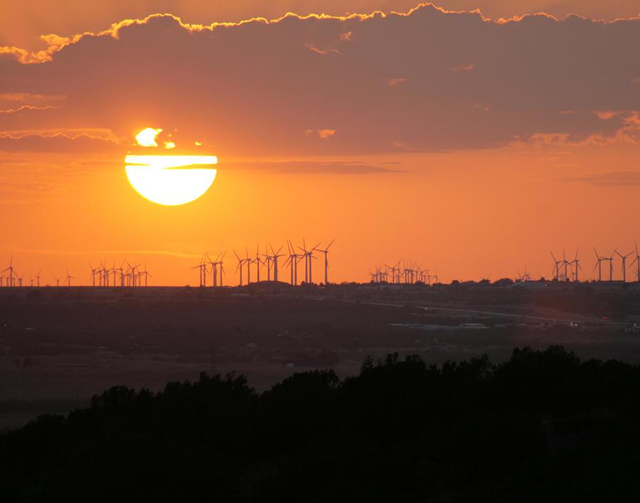 Nolan County Photograph - Nolan County Sunset by Miriam Tiritilli