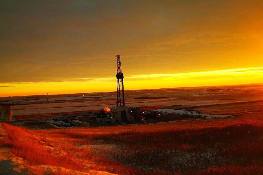 Oil Photograph - Nomac Drilling Keene North Dakota by Jeff Swan
