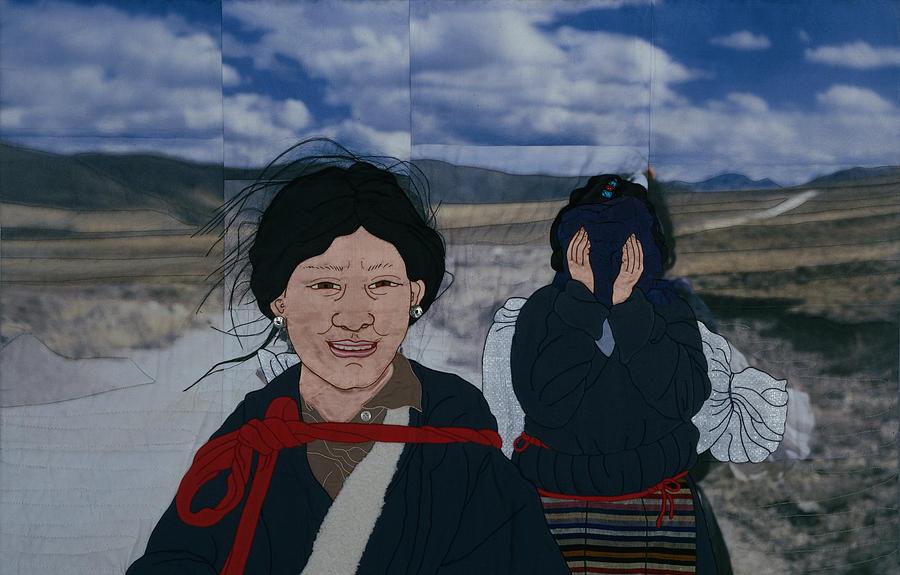Landscape Tapestry - Textile - Nomad Girls by Leslie Rinchen-Wongmo