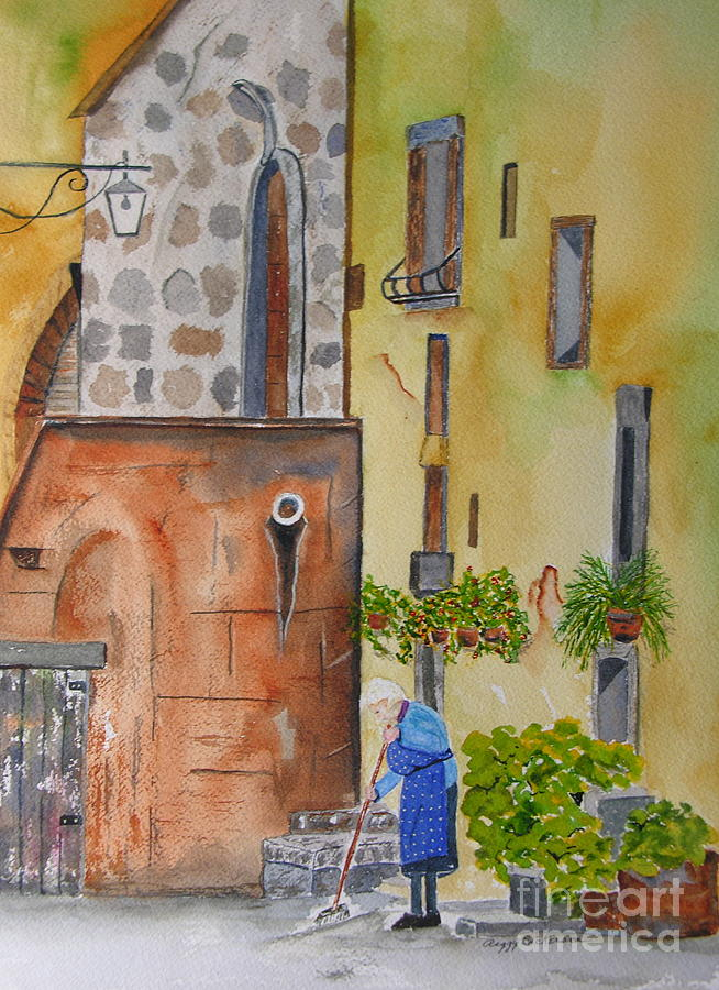 Italian Painting - Nonna by Peggy Dickerson
