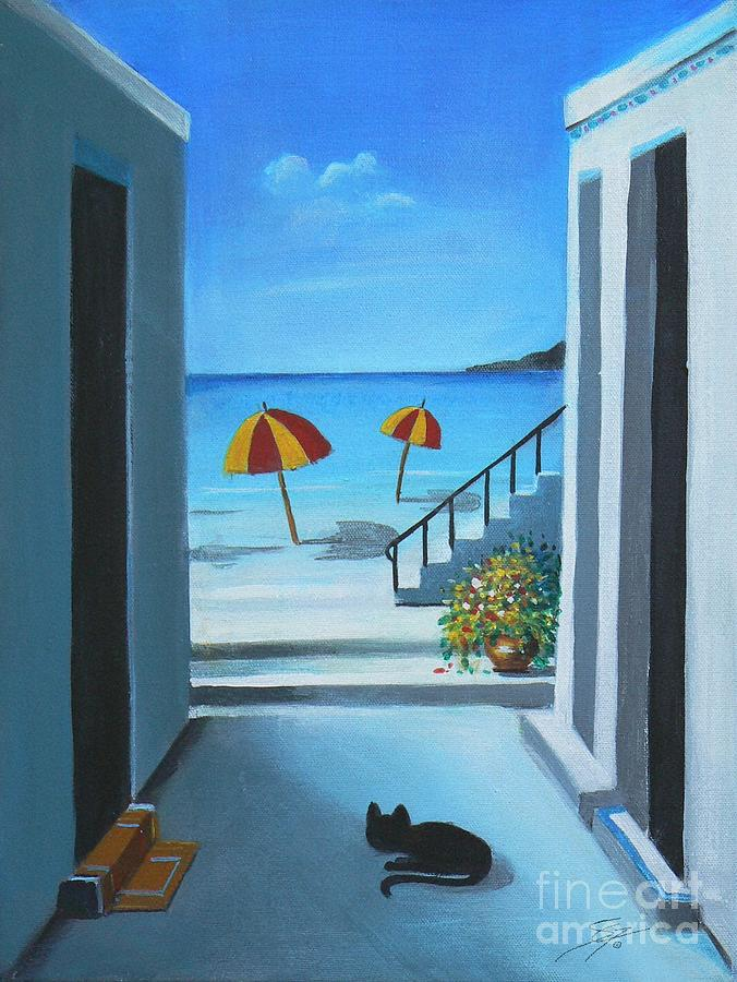 Beach Painting - Noon At The Beach by Artist ForYou
