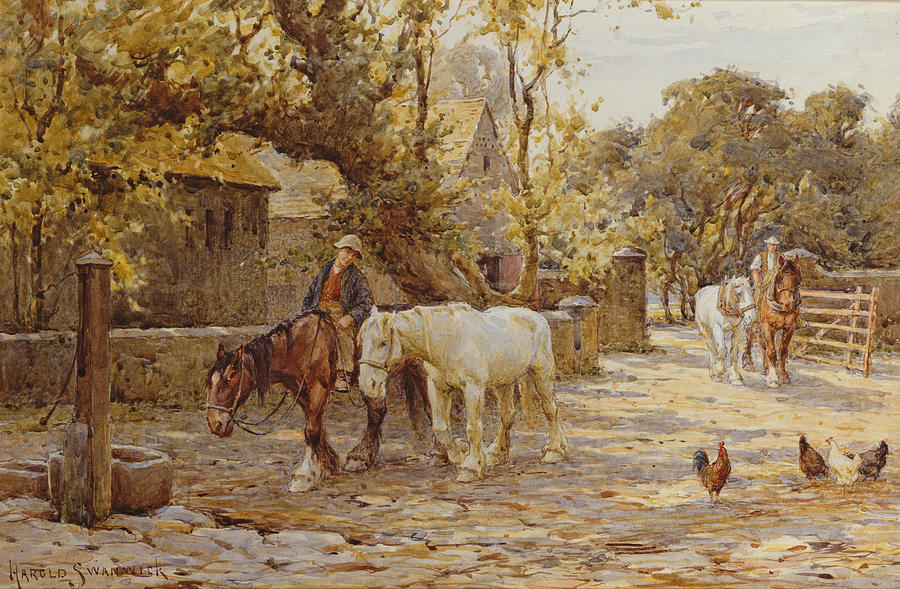 Rural Painting - Noon Day  by Joseph Harold Swanwick