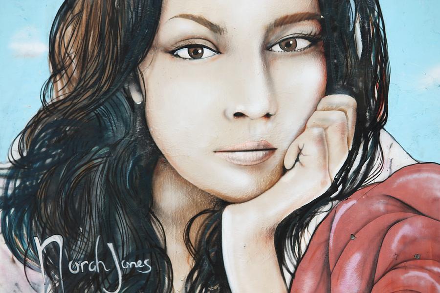 Music Photograph - Norah Jones Mural II by Lorri Crossno