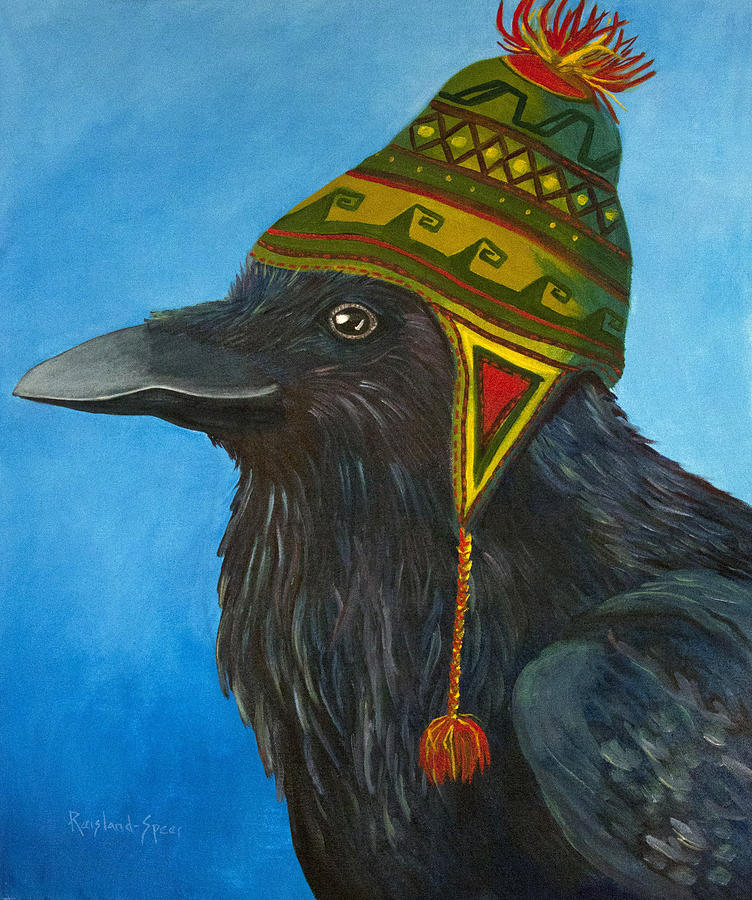 Raven Painting - Nordic by Amy Reisland-Speer
