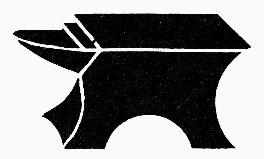 Antique Painting - Nordic Symbol Anvil by Granger