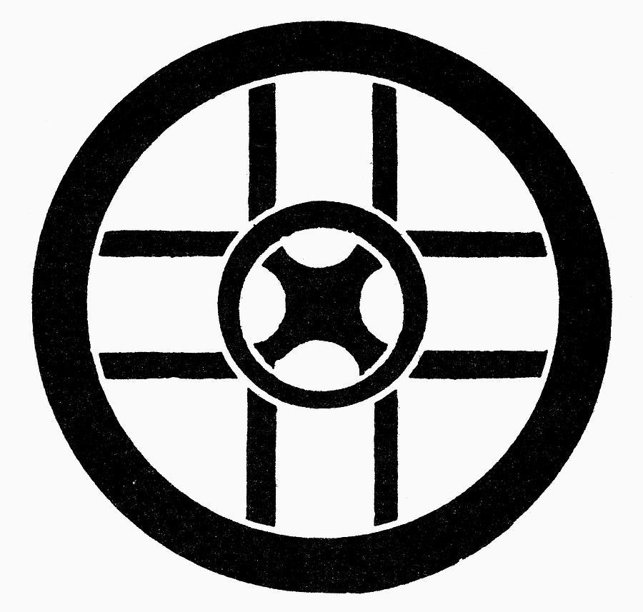 Cross Painting - Nordic Symbol Wheel Cross by Granger