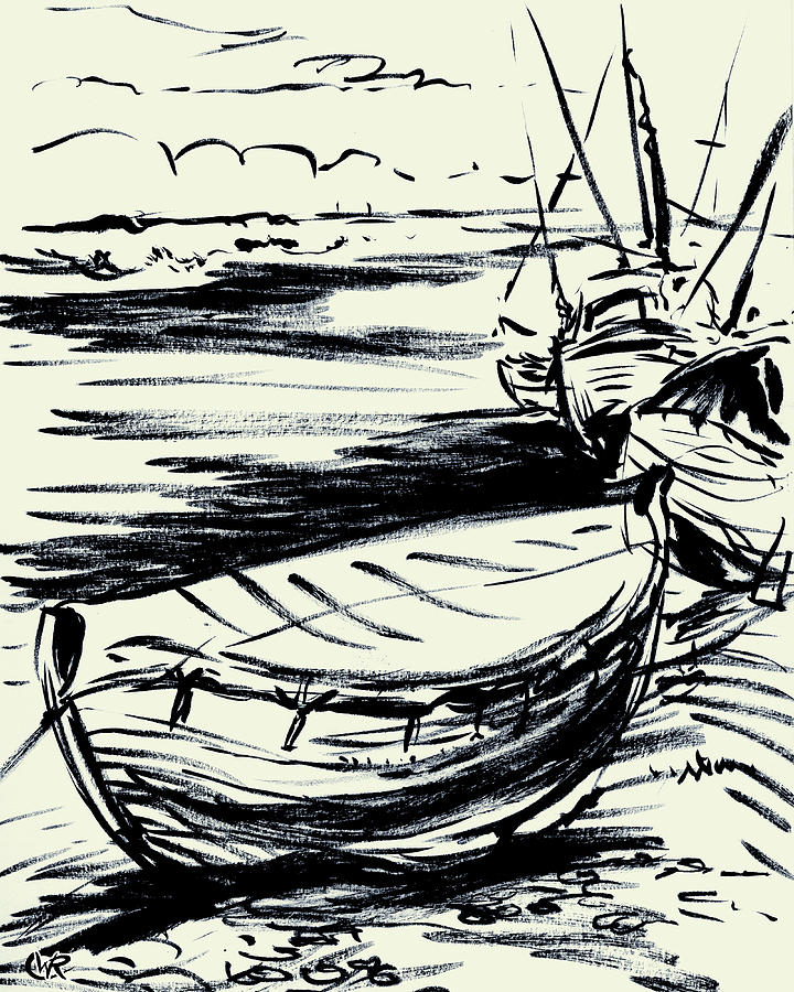 Ocean Painting - Norfolk Crab Boat by William Rowsell
