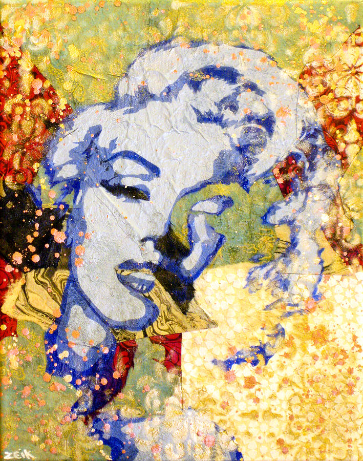 Marilyn Monroe Painting - Norma Jean Be Fading Fast by Bobby Zeik