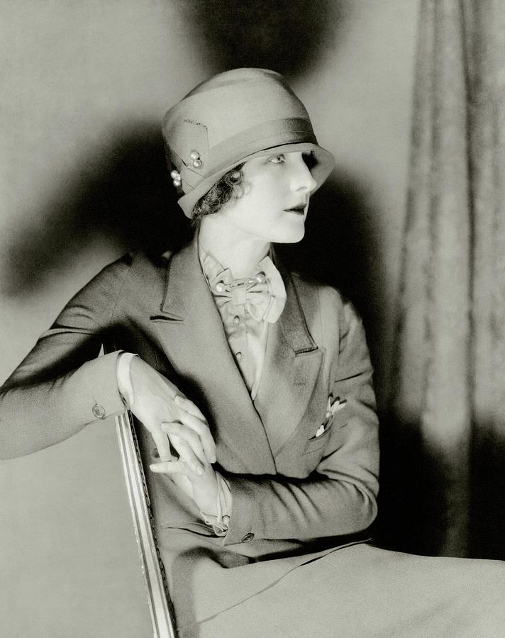 34c12101ccd33e Norma Shearer Wearing A Cloche Hat Photograph by Charles Sheeler