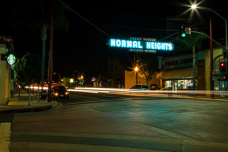 San Diego Photograph - Normal Heights Neon by John Daly