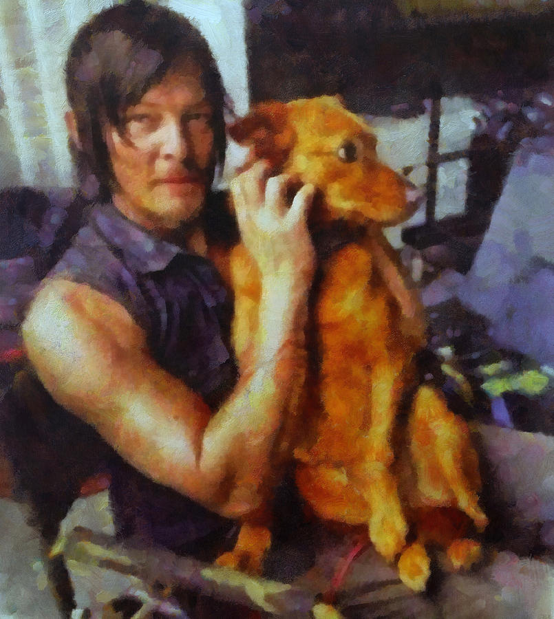 Norman Reedus Painting - Norman And Charlie  by Janice MacLellan