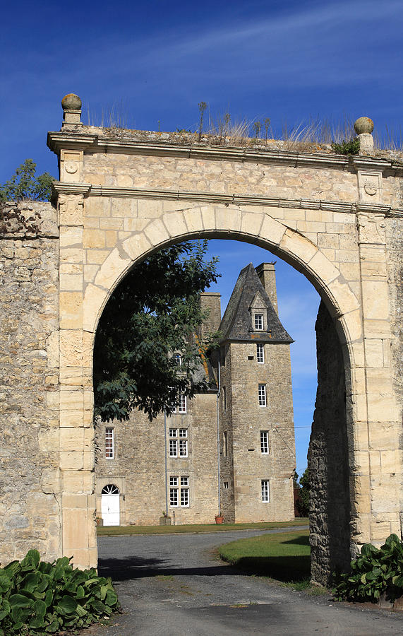 Norman Manor Arched Door Photograph