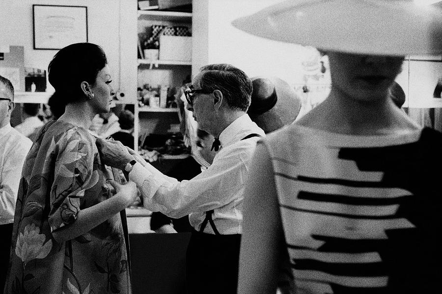 Norman Norell Backstage Photograph by Bert Stern