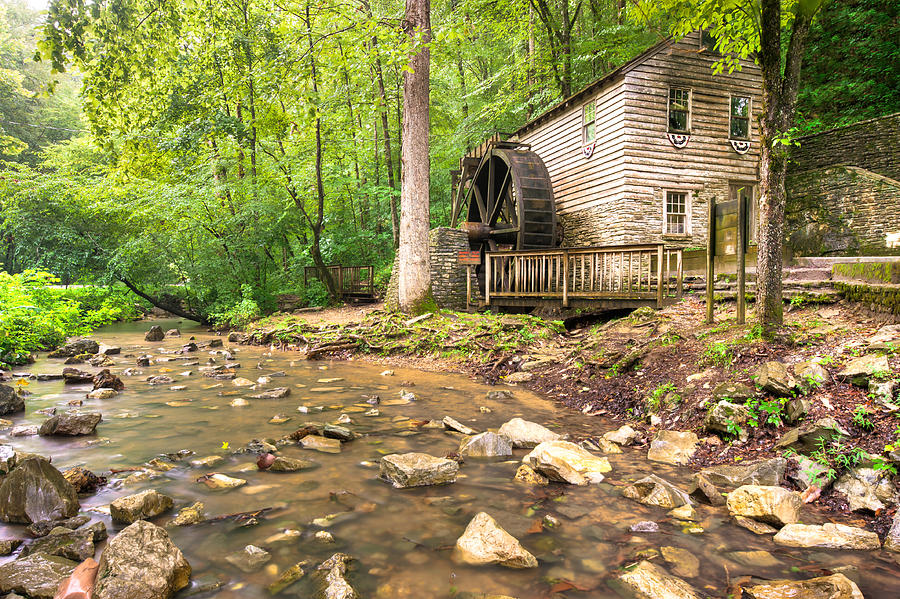 America Photograph - Norris Dam Grist Mill - Tennessee by Gregory Ballos