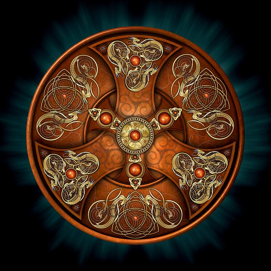 Norse Photograph - Norse Chieftains Shield by Ricky Barnes