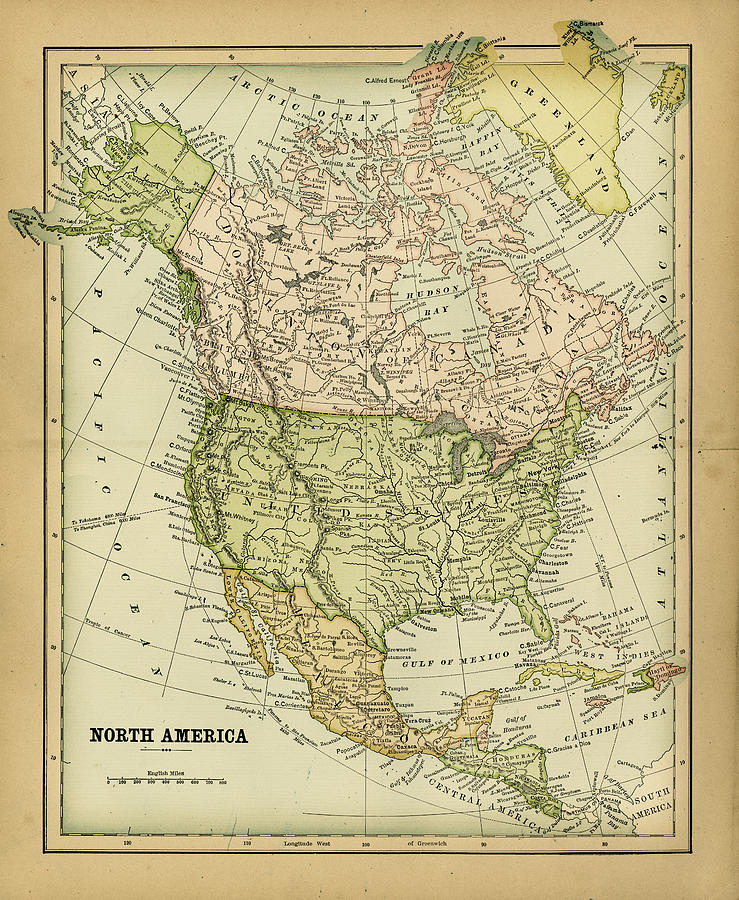 North America 1883 Digital Art by Thepalmer