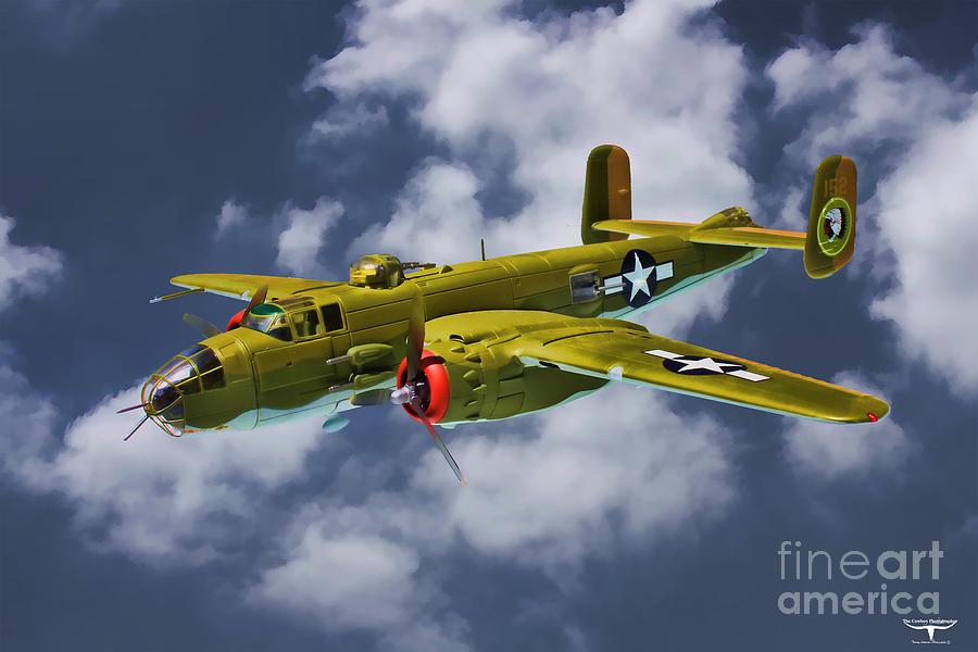 Usaaf Digital Art - North American B-25j by Tommy Anderson