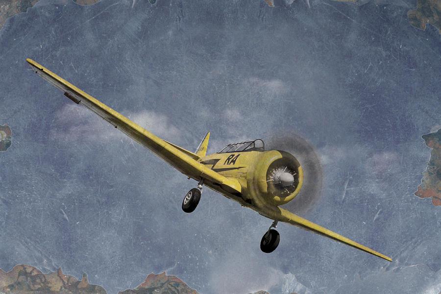 Airplane Photograph - North American T6 Vintage by Debra and Dave Vanderlaan