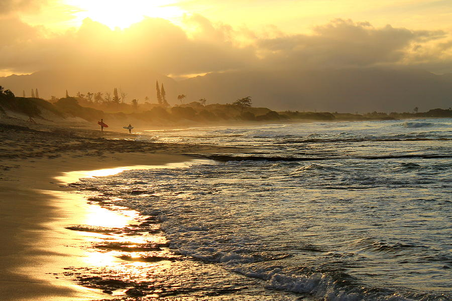 Ocean Photograph - North Beach by Saya Studios