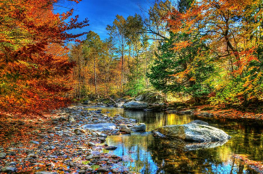 Autumn Photograph - North Branch In Fall by John Nielsen