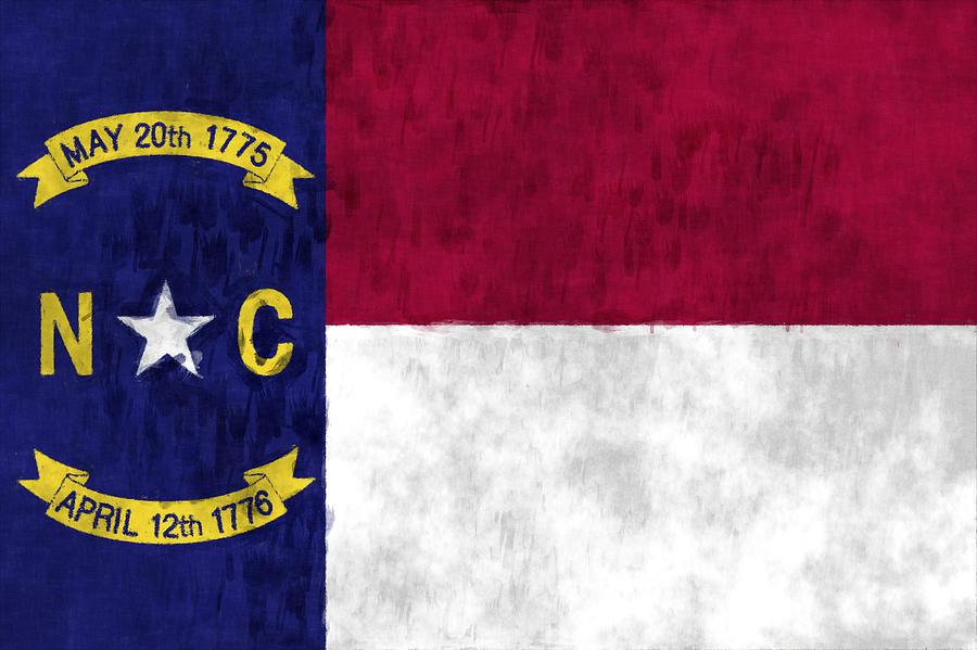 America Digital Art - North Carolina Flag by World Art Prints And Designs