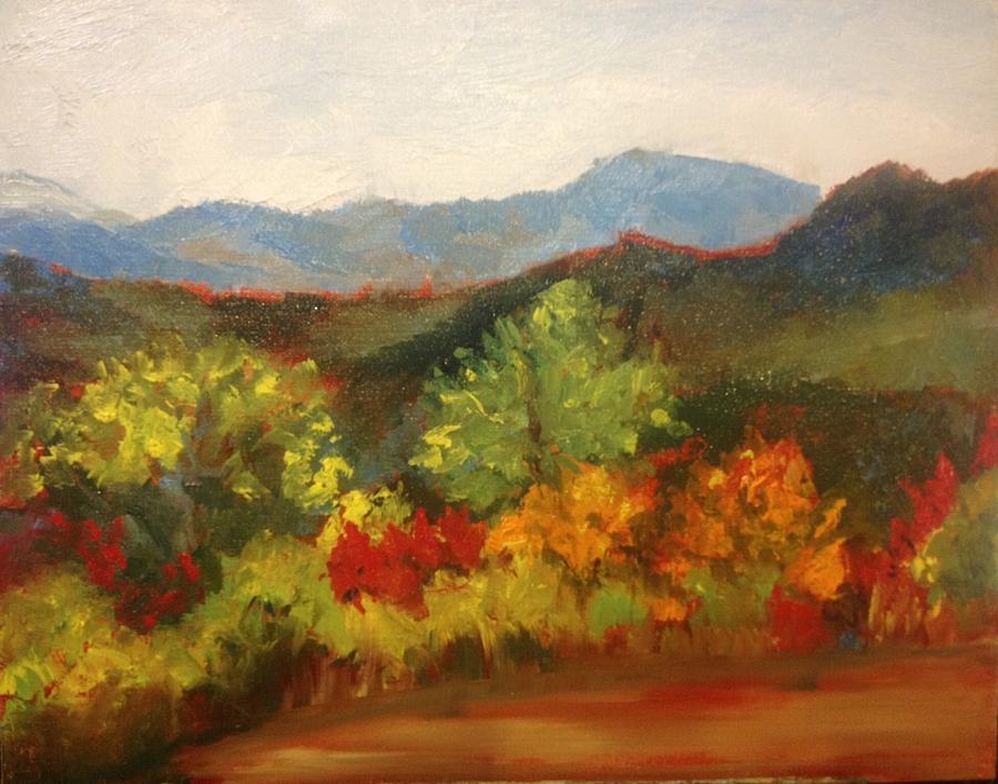 Mountain Painting - North Carolina Mountains by Jenell Richards