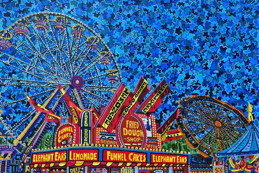 North Carolina Painting - North Carolina State Fair 2 by Micah Mullen