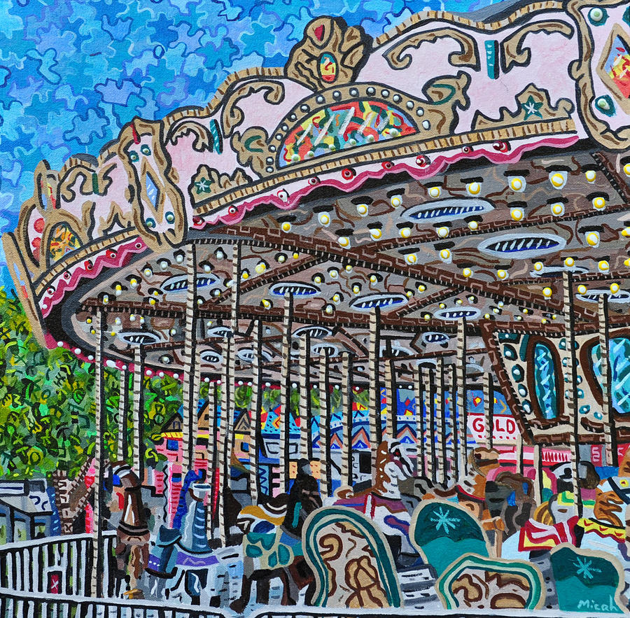 North Carolina Painting - North Carolina State Fair by Micah Mullen