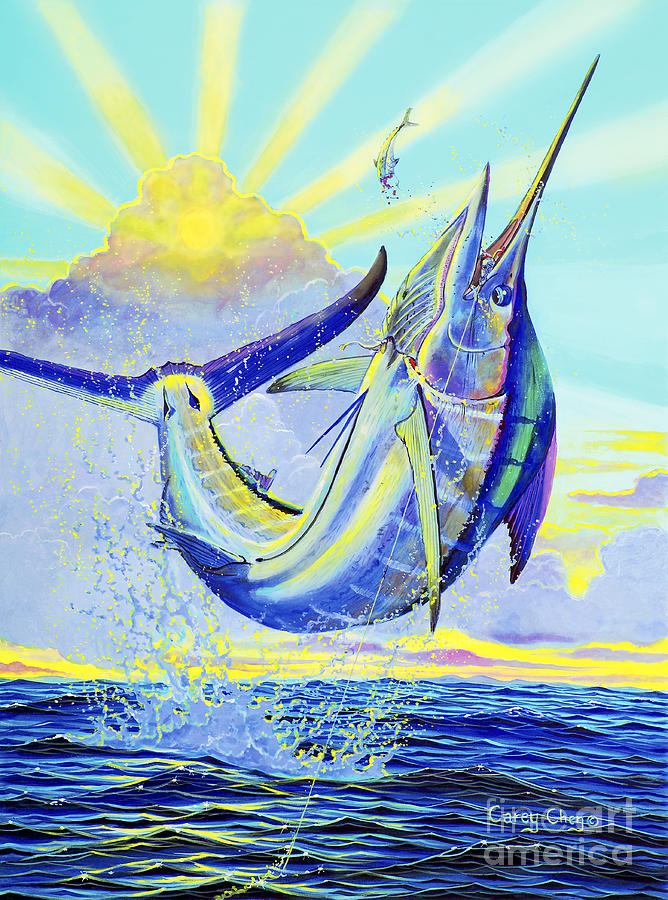 Marlin Painting - North Drop Off00132 by Carey Chen