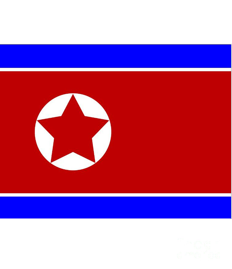 North Digital Art - North Korea Flag by Frederick Holiday
