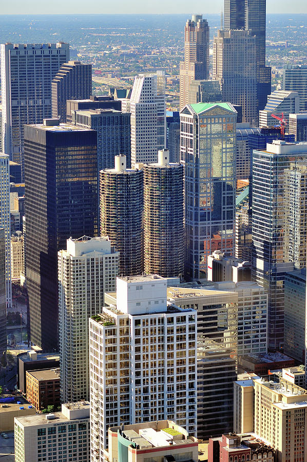 Chicago River Photograph - North Loop Density by Bruce Leighty