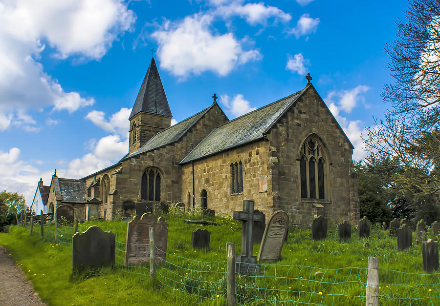 St Michael And All Angels Photograph - North Otterington Church by Trevor Kersley