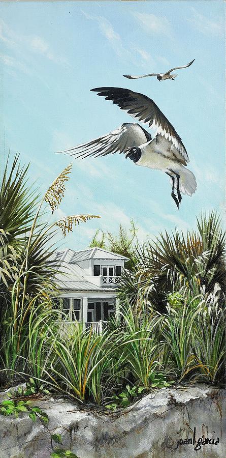 Bird Painting - North Shore Landing by Joan Garcia