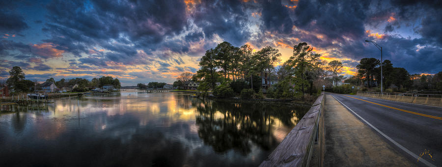 Norfolk Photograph - North Shore Sunset by Williams-Cairns Photography LLC