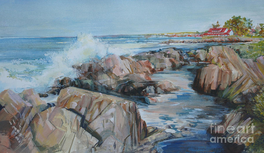 Rocky Coast Painting - North Shore Surf by P Anthony Visco