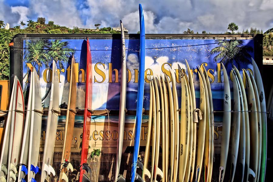 North Shore Photograph - North Shore Surf Shop by DJ Florek