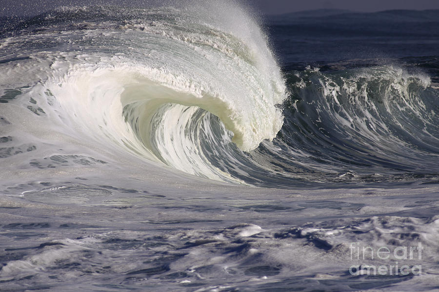 Beautiful Photograph - North Shore Wave Curl by Vince Cavataio