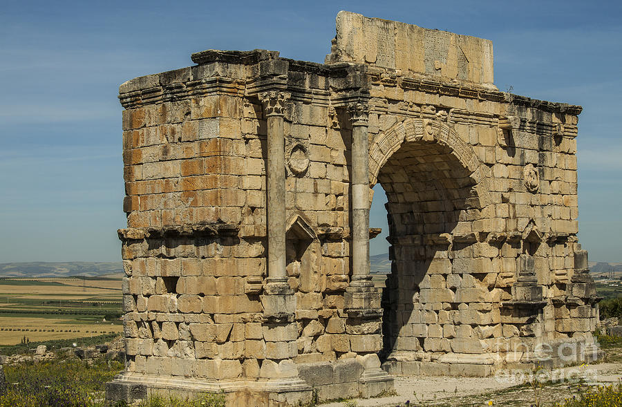 North Side Of The Arch Of Caracalla At Volubilis Photograph