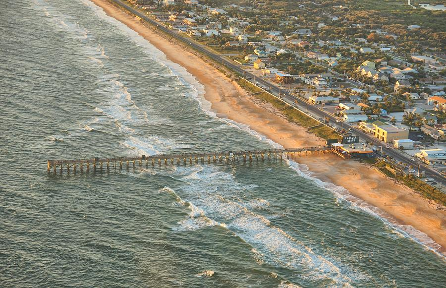 Areal Photograph - North Side Of The Pier by David Jordan