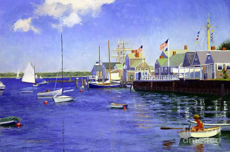 Island Painting - North Wharf Nantucket by Candace Lovely