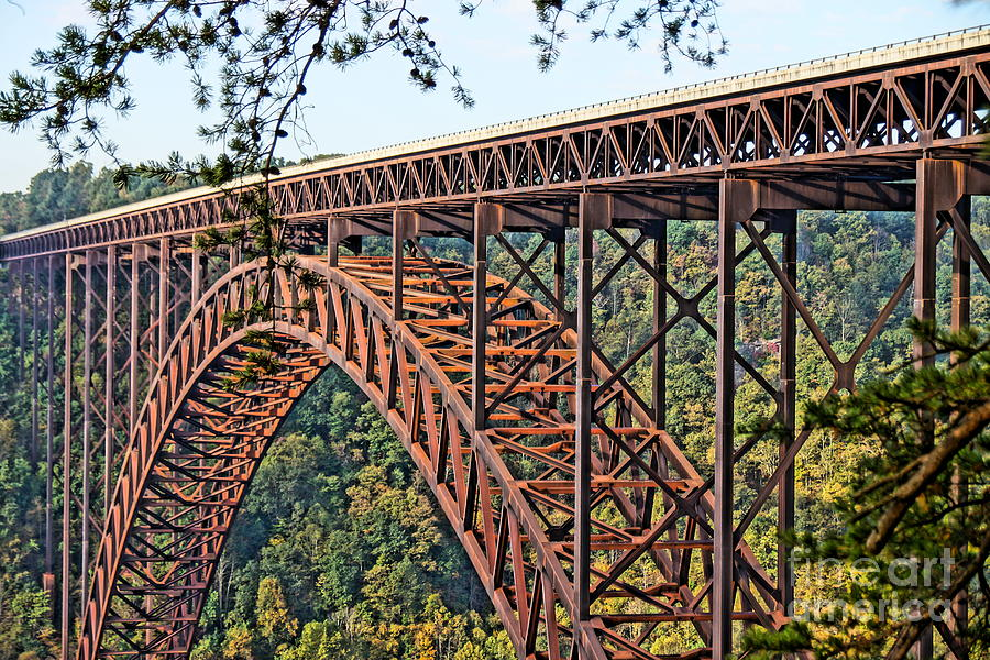 Bridge Photograph - Northeast Close-up Of New River Gorge Bridge by Timothy Connard