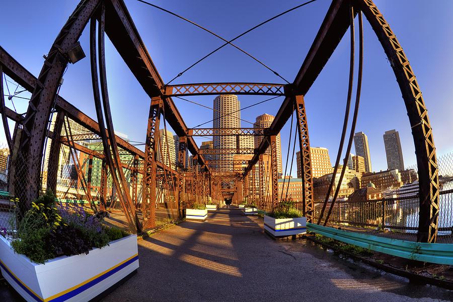 Boston Photograph - Northern Avenue Bridge by Joann Vitali