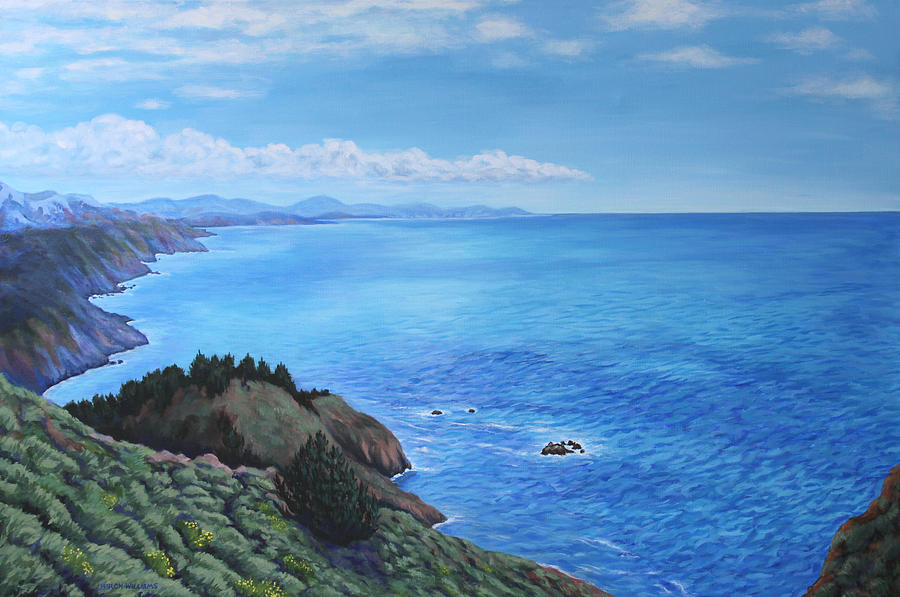 California Painting - Northern California Coastline by Penny Birch-Williams