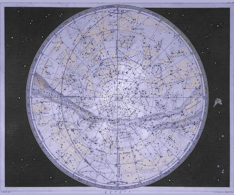 Northern Hemisphere Star Map Photograph By Sheila Terry Science