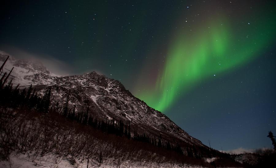Aurora Borealis Photograph - Northern Lights 1 by Clint Pickarsky